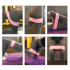 resistance band assisted hip stretches glute with hip circles workout bands