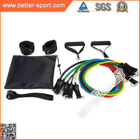 11PCS latex elastic Resistance Band set